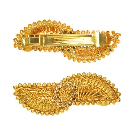 14590 Antique Classic Hair Clip with gold plating