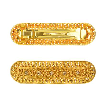 14591 Antique Classic Hair Clip with gold plating