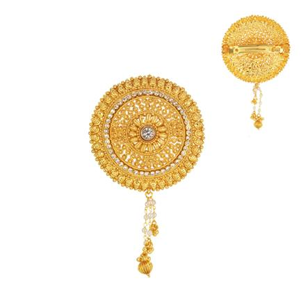 14593 Antique Classic Hair Clip with gold plating