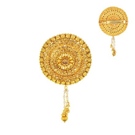 14594 Antique Classic Hair Clip with gold plating