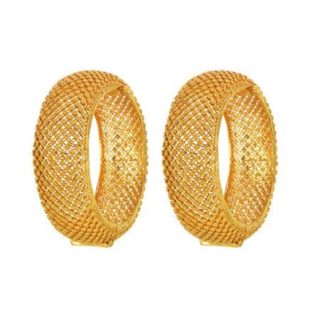 14598 Antique Plain Gold Bangles