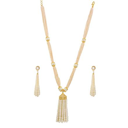 14600 Antique Mala Necklace with gold plating