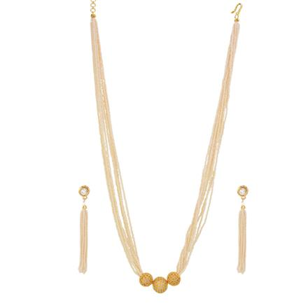 14601 Antique Mala Necklace with gold plating