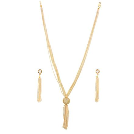 14603 Antique Mala Necklace with gold plating