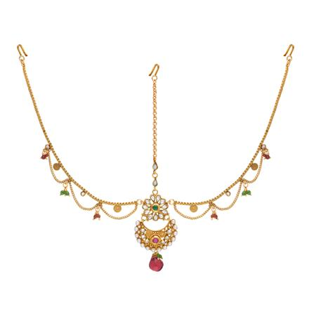 14605 Antique Chand Damini with gold plating