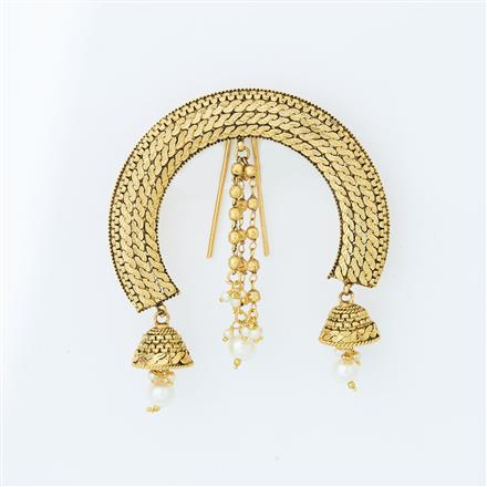 14609 Antique Classic Hair Brooch with gold plating