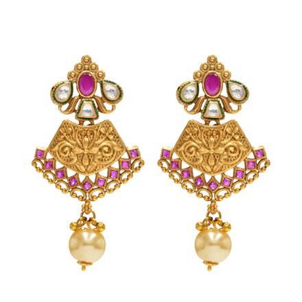 14612 Antique Classic Earring with gold plating