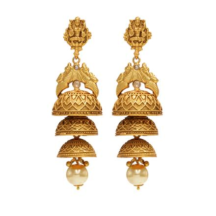 14614 Antique Jhumki with gold plating