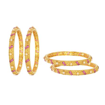 14631 Antique Classic Bangles with gold plating