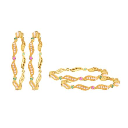 14633 Antique Classic Bangles with gold plating