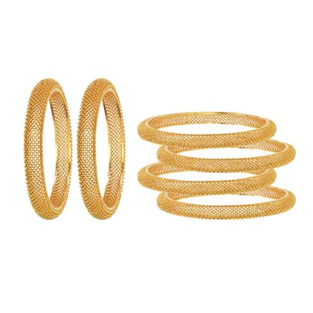 14634 Antique Plain Gold Bangles