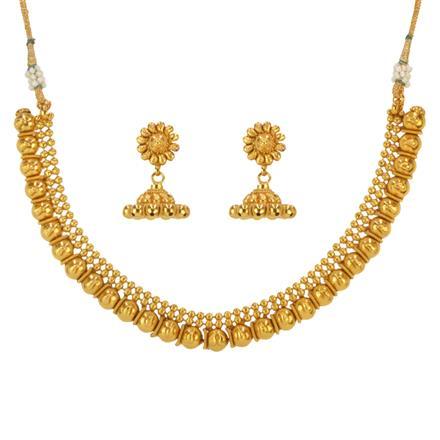 14635 Antique Plain Gold Necklace