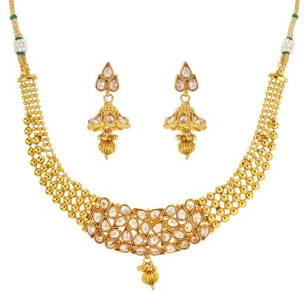 14636 Antique Classic Necklace with gold plating