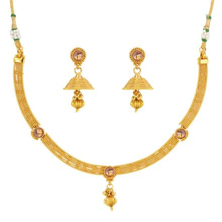14637 Antique Delicate Necklace with gold plating
