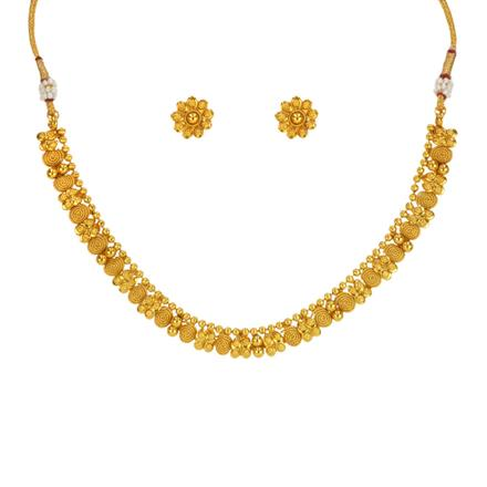 14638 Antique Delicate Necklace with gold plating