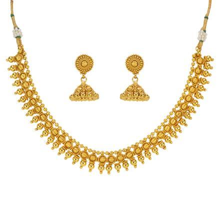 14639 Antique Plain Gold Necklace