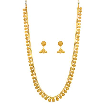 14640 Antique Long Necklace with gold plating