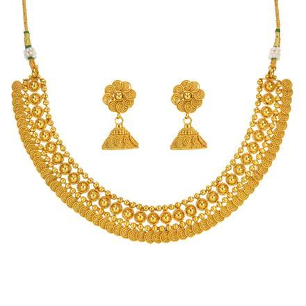 14641 Antique Plain Gold Necklace
