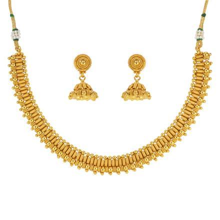 14642 Antique Plain Gold Necklace