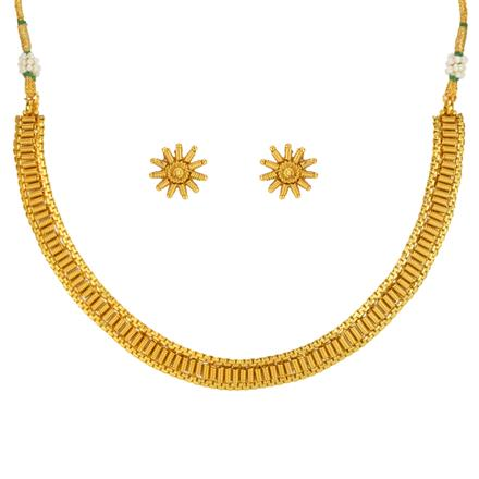 14643 Antique Delicate Necklace with gold plating