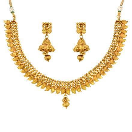 14644 Antique Plain Gold Necklace
