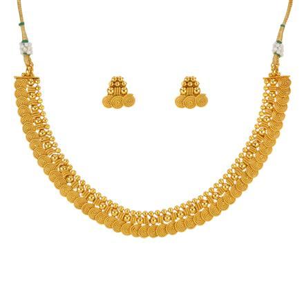 14645 Antique Plain Gold Necklace