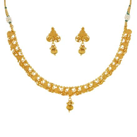 14646 Antique Delicate Necklace with gold plating