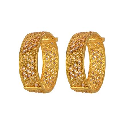 14648 Antique Openable Bangles with gold plating