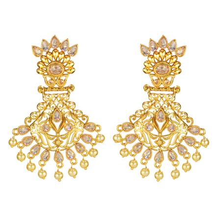 14650 Antique Classic Earring with gold plating