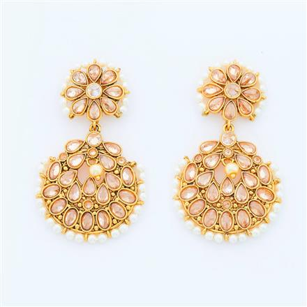 14652 Antique Classic Earring with gold plating