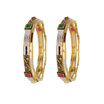 14653 Antique Classic Bangles with gold plating