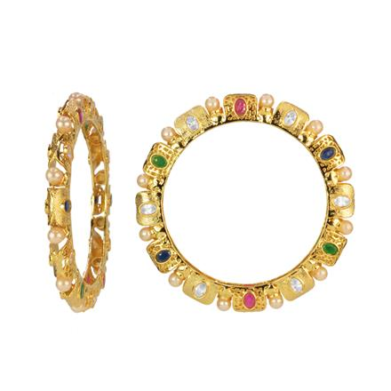 14654 Antique Classic Bangles with gold plating