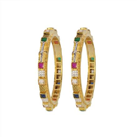 14655 Antique Classic Bangles with gold plating