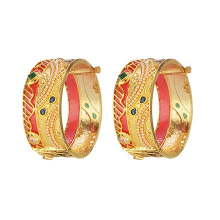 14656 Antique Openable Bangles with gold plating