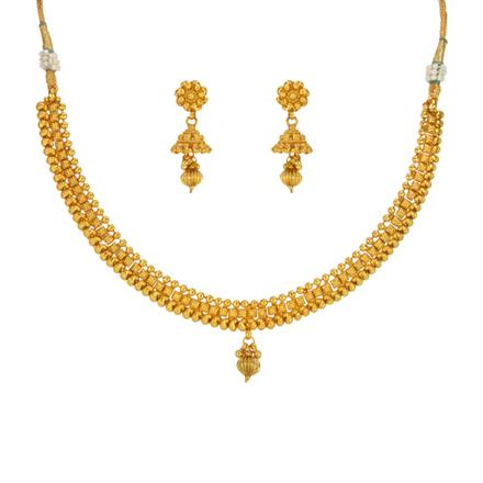 14657 Antique Delicate Necklace with gold plating
