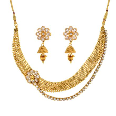 14658 Antique Classic Necklace with gold plating