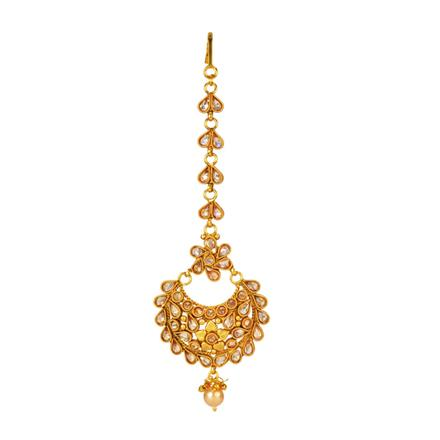 14659 Antique Chand Tikka with gold plating