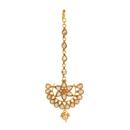 14660 Antique Chand Tikka with gold plating