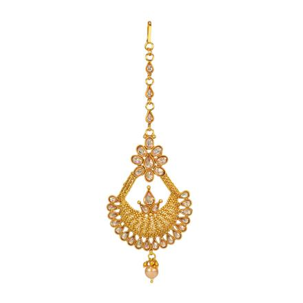 14663 Antique Chand Tikka with gold plating