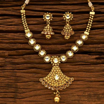 14665 Antique Classic Necklace with gold plating