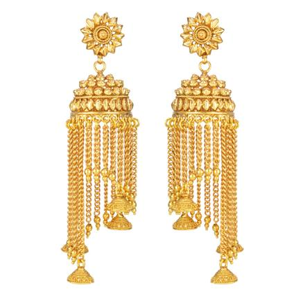 14667 Antique Jhumki with gold plating