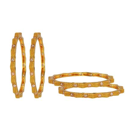 14668 Antique Classic Bangles with gold plating