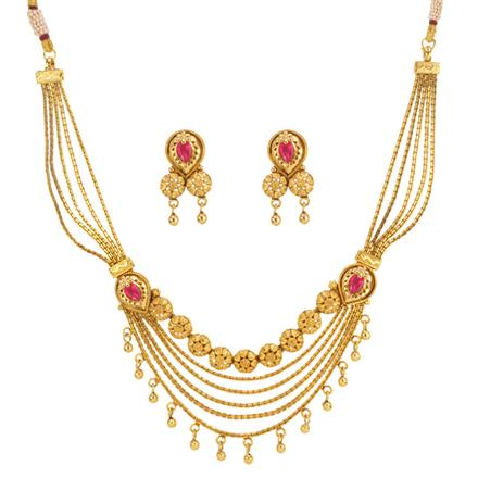 14675 Antique Classic Necklace with gold plating
