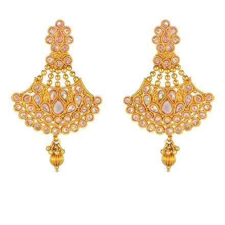 14676 Antique Classic Earring with gold plating