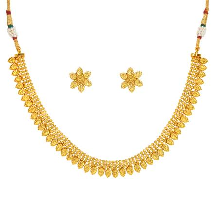 14677 Antique Delicate Necklace with gold plating