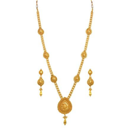 14679 Antique Long Necklace with gold plating