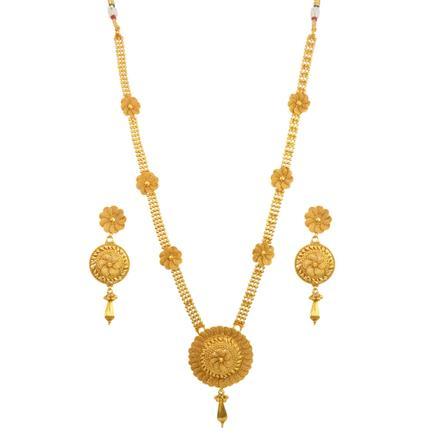 14680 Antique Long Necklace with gold plating