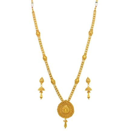 14681 Antique Long Necklace with gold plating