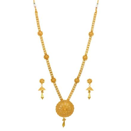 14682 Antique Long Necklace with gold plating