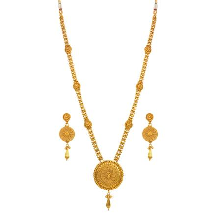 14683 Antique Long Necklace with gold plating